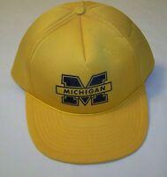 Vintage Michigan Wolverines SnapBack Hat Cap One Size