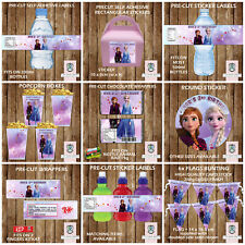 PERSONALISED FROZEN PARTY ITEMS FRUIT SHOOT LABELS KITKAT WRAPPERS STICKERS TAGS