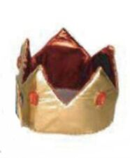 Medieval Gold & Red Kings Crown Royalty Hat Fancy Dress Adult