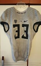 2015 Oregon Ducks Salute the State # 33 Pioneer Authentic Nike Game Jersey Sz 40