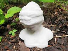 """9"""" Cement Female Bust Sculpture Garden Art Concrete Statue Lady Woman Classical"""