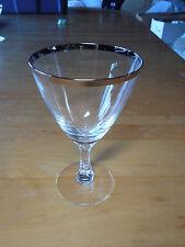 Fostoria WEDDING RING 6051 1/2 Set of 2 Champagne Tall Sherbet 4 3/8 platinum