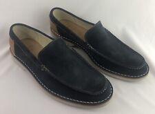 Clark Mens Shoes E37 E1825 Size 10 Hinton Sun Navy Suade