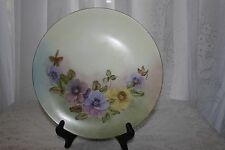 Holiday China Made In Germany Hand Painted  Floral Plate Signed  6