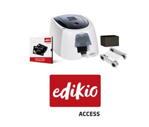Evolis Edikio Access Plastic Card Retail Price Tag Printer Bundle, Inc Software