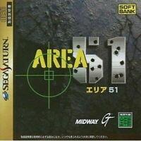 USED Sega saturn area 51