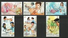 SINGAPORE 2021 50TH ANNIV. OF COLLEGE OF FAMILY PHYSICIANS SET OF 6 STAMPS MINT