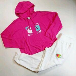 Champion Women 2p set 100%AUTHENTIC size M hoodie and pants multicolor