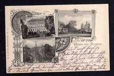 108551 AK Freyhan 1903 Schloss Kirche Bahnpost Oels - Gnesen Zug 801