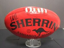 Brisbane - Michael Voss signed football : AFL with all club logos