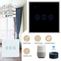 WiFi Smart Curtain Switch Touch Panel Phone APP Control Blind Roller EU Plug