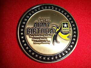 US ARMY 241st ARMY BIRTHDAY (1775-2016) 2-Side Challenge Coin