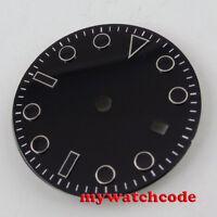 28.5mm black Watch Dial for Mingzhu DG 2813 3804 Movement D121