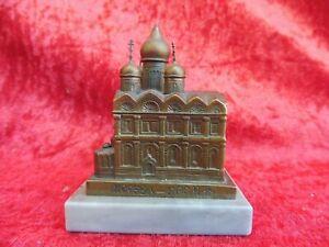 schöne, alte Bronze-Miniatur ,Kathedrale des Erzengels Michael Moskau , Russland