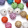 20 Quality Czech Crystal Rhinestones Pave Clay Round Disco Ball Spacer Bead 10mm