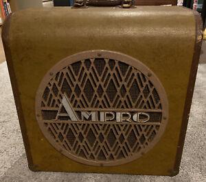 Stunning 1940s Ampro Projector Speaker Cabinet, Original Deluxe Speaker Inside