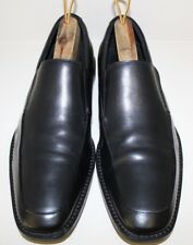 Banana Republic Mens Loafer Shoes Size 10 M Black Leather Apron Toe Slip On