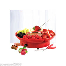 Red Electric Chocolate Melting Pot Cheese Fondue Fountain Machine Chocolate
