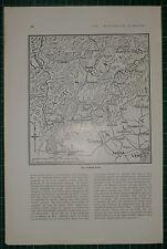 1916 WWI WW1 PRINT ~ THE TRENTINO FRONT MAP ~ PADUA VENICE LOMBARDY AUSTRIA