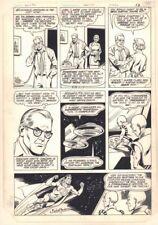 New Adventures of Superboy #41 p.9 Superboy w Aliens art by Kurt Schaffenberger Comic Art