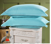 Pillow Cases Light Blue Color Solid Color 100% Polyester Pillowcases Brief Style