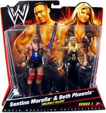 WWE battle packs série 1 santino marella & BETH PHOENIX action figures
