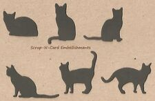 • • • Die Cuts ~ CATS...6 Shapes ~ Black - Stampin Up C/S  Cards  Scrapbooking
