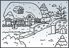 """Nellie Snellen Embossing Folder """"Snowy House"""" Pif002 For Cards"""