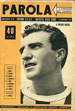 I CAMPIONI DEL GIORNO PAROLA - V. Baggioli -  n° 10, 15 novembre 1951