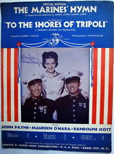 Film / Movie THE MARINES' HYMN Sheet Music THE SHORES OF TRIPOLI MAUREEN O'HARA