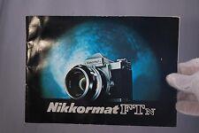Nikon Appareil Photo Nikkormat Ftn Instruction Manuel (En) 7209058 Bleu