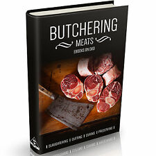 Butchering Meat Books on DVD Slaughter Cutting Preserving Curing Butcher Beef