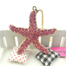 Charm Betsey Johnson Jewelry Pendant starfish Rhinestone Pretty golden Necklace