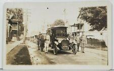 PA c1920 US Soldiers WW1 Era Funeral Procession Pennsylvania Rppc Postcard P16