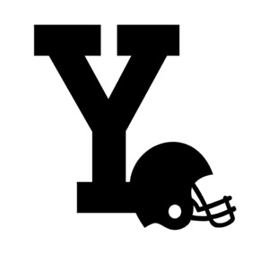 Y Monogram Letter Initial Football Helmet Vinyl Decal Sticker For Home Cup Car