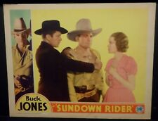 Buck Jones Sundown Rider 1932 Lobby Card VF Columbia Western
