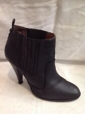 Dune Black Ankle Leather Boots Size 40