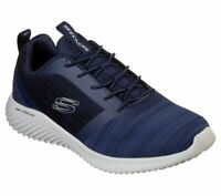 Skechers Navy Shoes Men Memory Foam Walk Sport Comfort Casual Slip On Mesh 52504