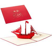 Boot sicheres Segeln 3D knallen oben Grußkarte Geburtstags Jahrestag/danken/Ihne