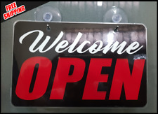 Open Closed Easy Removable Signs Store Office Church Heavy Duty Welcome Signs