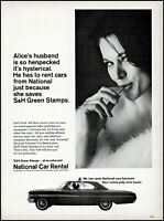 1964 Sexy woman National car rental S&H green stamps retro photo print ad ads47