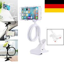 Universal Halterung Tisch Bett Schwanenhals Halter für Smartphone Tablet Weiß DE