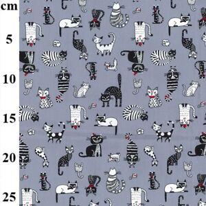 Fat Quarter Rose & Hubble Cat  Design 100% Cotton Poplin Fabric