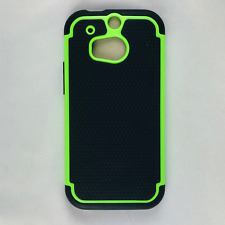 HTC M8 Hybrid Phone Case Hard & Soft Rubber Protective Cover