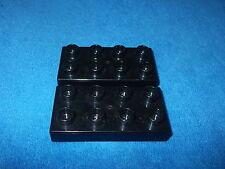 LEGO DUPLO RITTERBURG aus 4777 + 4785 2 X STEIN 8er Noppen FLACH SCHWARZ 4776 v