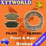 FRONT REAR Brake Pads Shoes PEUGEOT V-Clic 50 4T 160mm F 2008 2009 2010 2011