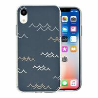 For Apple iPhone XR Silicone Case Abstract Waves Pattern - S8121