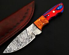 HUNTING STAG USA FORGED DAMASCUS-STEEL SKINNER KNIFE