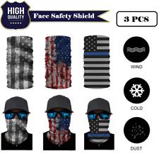 3 PACK Face Mask USA Flag Shield Headwear Bandana Scarf Neck Gaiter Windproof US