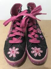 Lelli Kelly Canvas Upper Beaded High-Top Girls Sneakers, size 31 Y / 13m Used